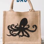 Burlap Octopus Bag