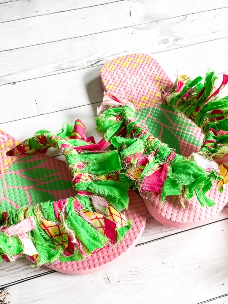 DIY Fabric Wrapped Flip Flops