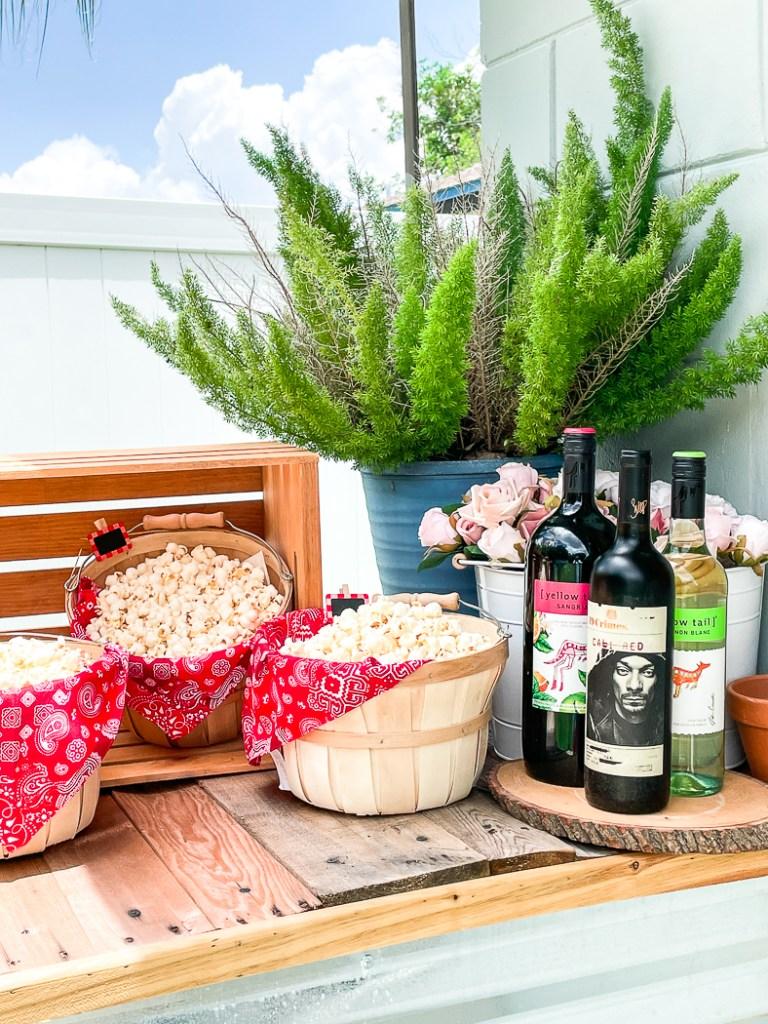 Wine Popcorn Flowers