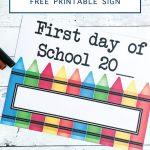 Back to School Printable Sign