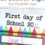 Personalized Back to School Sign