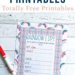 Printable Rainbow Marker