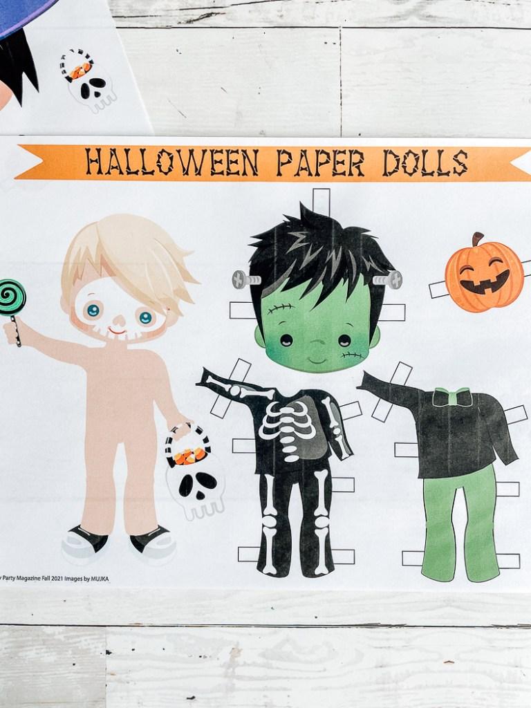 Skeleton Paper Doll