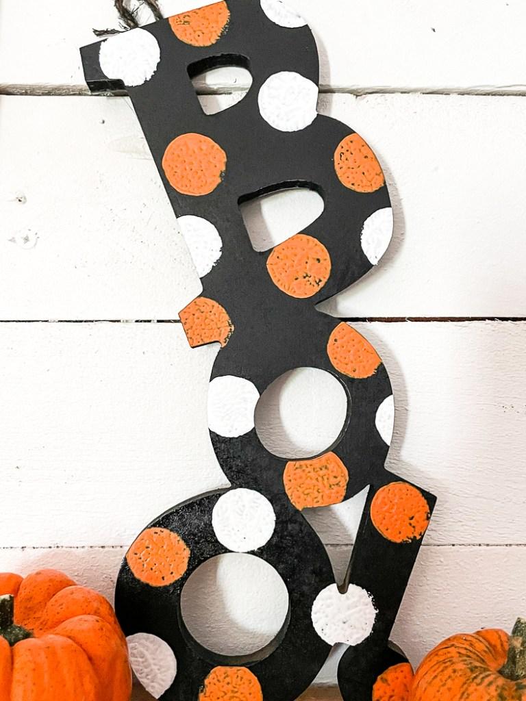 Boo Sign Pumpkin
