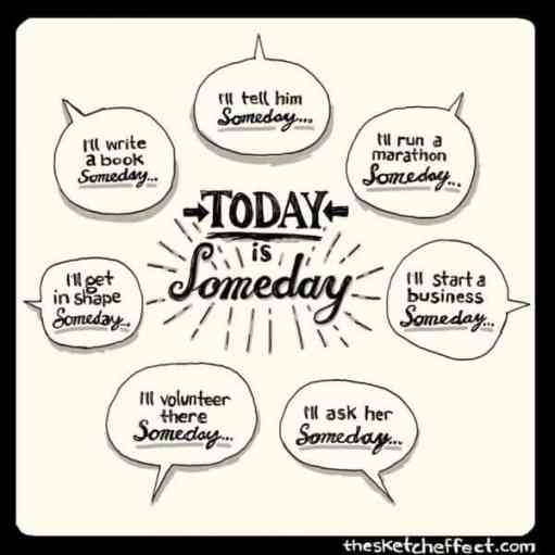 inspirational picture quotes today is someday