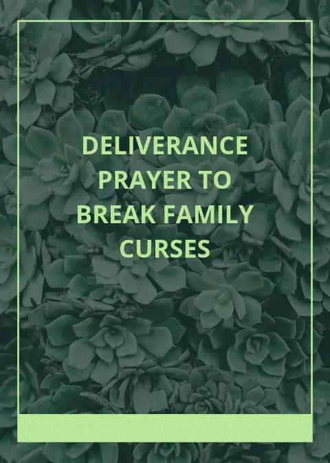 10 Deliverance Prayer to break family curses | PRAYER POINTS