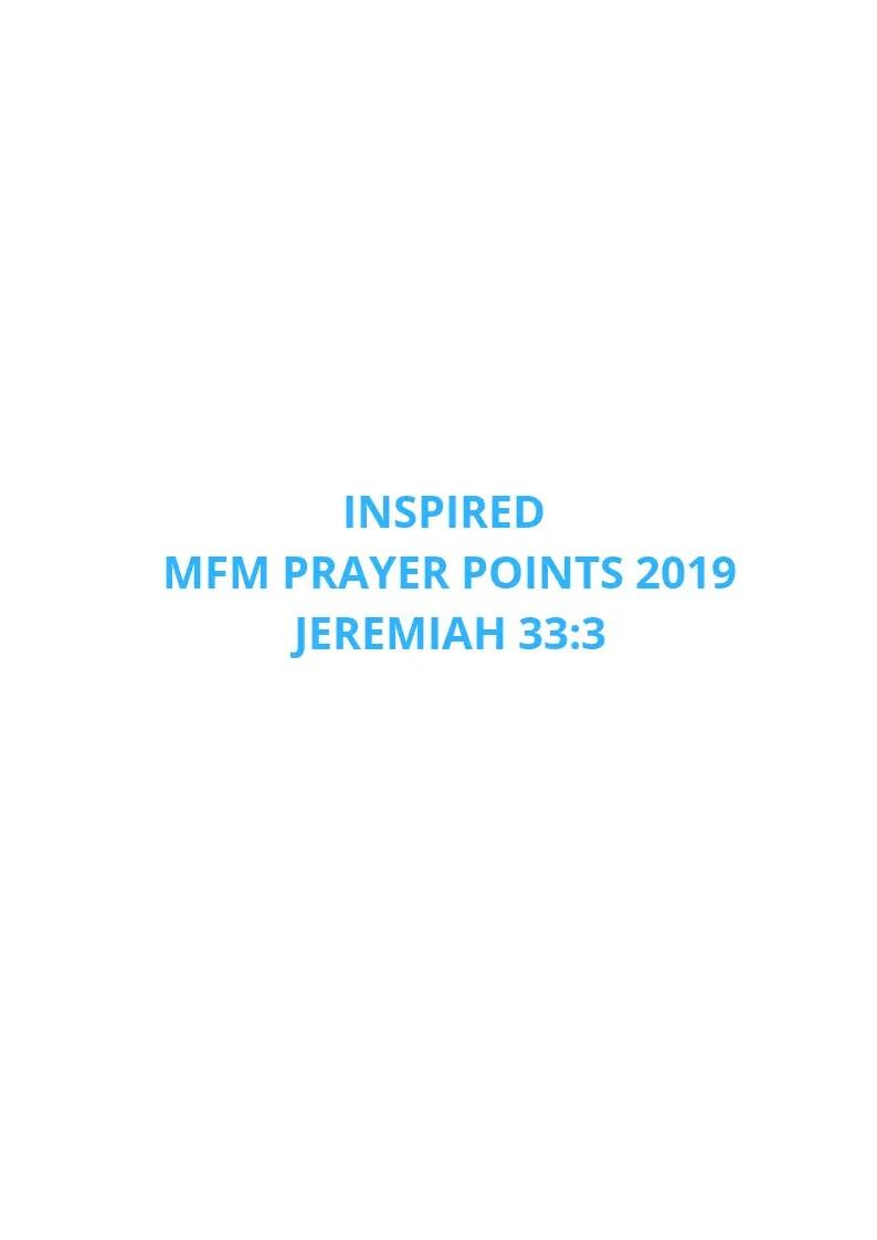 50 Inspired MFM Prayer Points 2019 | PRAYER POINTS