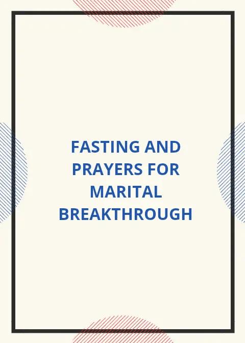 4 Days Fasting And Prayer For Marital Breakthrough | PRAYER