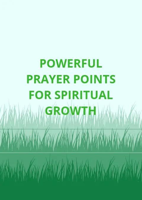 Gebedspunte vir geestelike groei