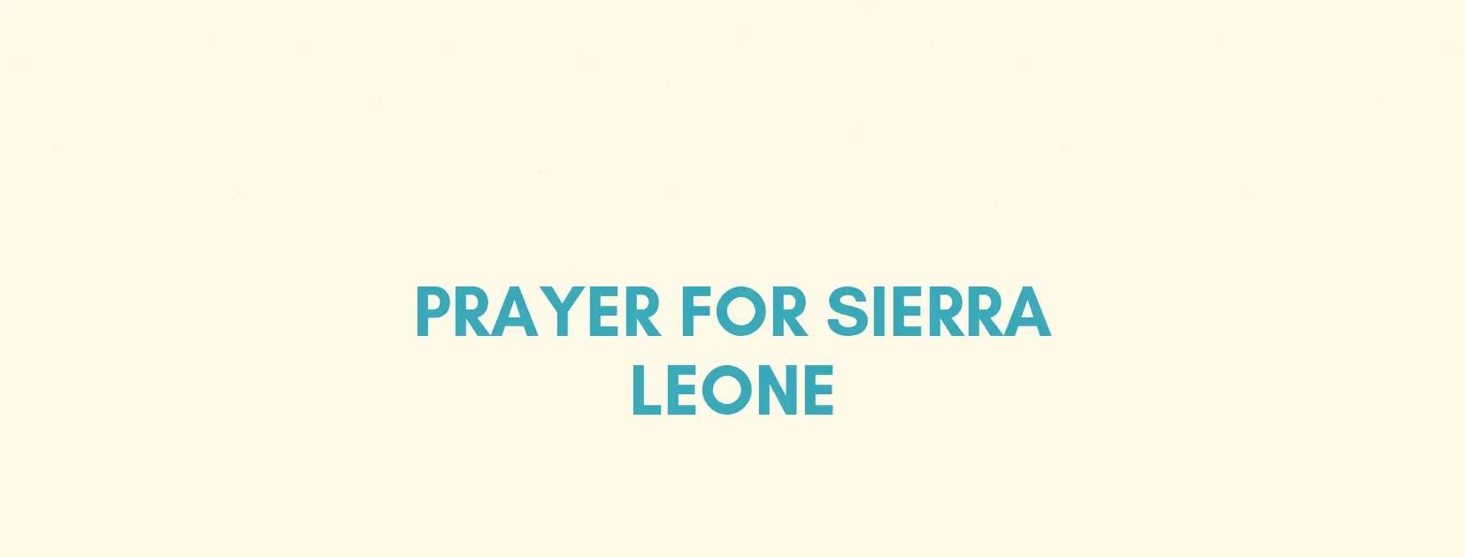 Sierra Leone gebed