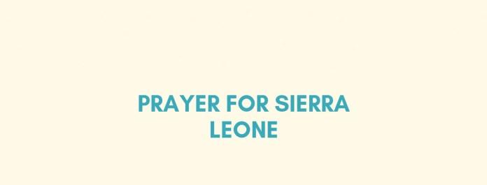 Gweddi Sierra Leone