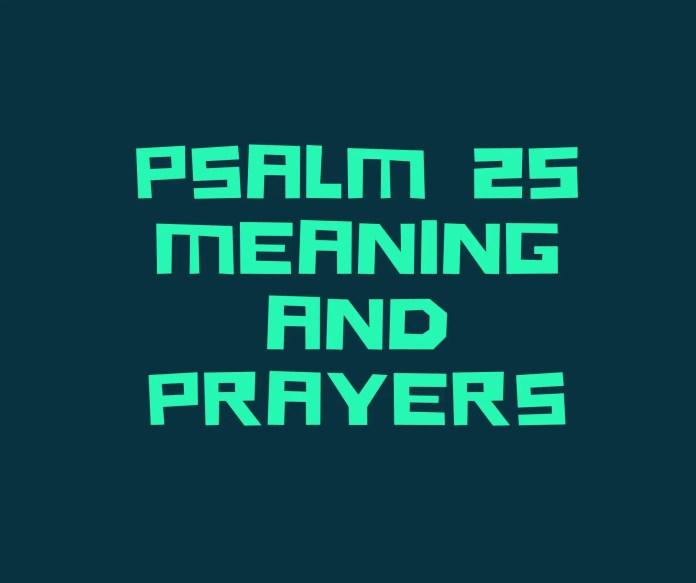 Pwyntiau gweddi o salm 25