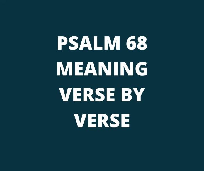 Psalm 68 Die boodskap vers deur vers
