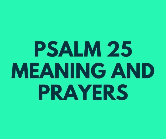 Salme 25 Betydning vers av vers