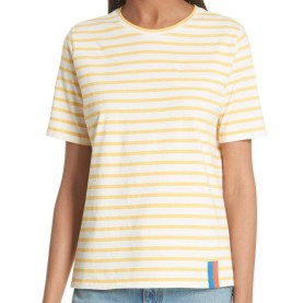 Nordstrom Yellow Stripe Tee