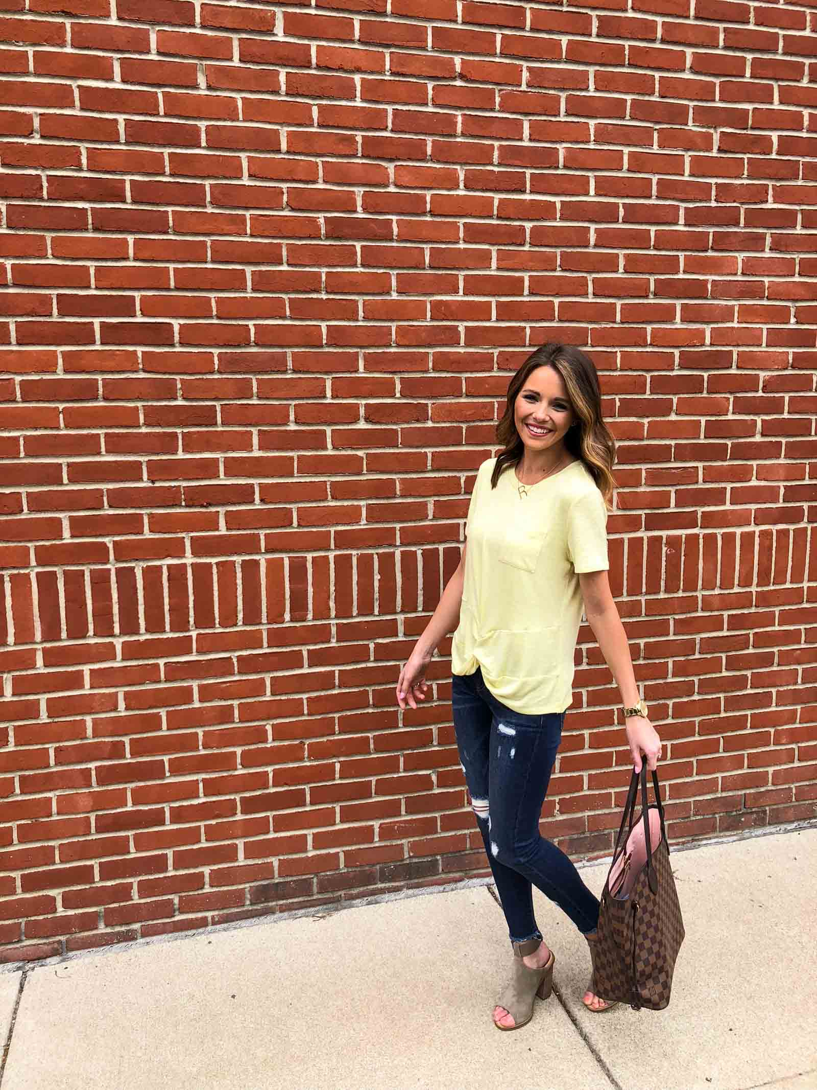 Yellow Twist Tee-10