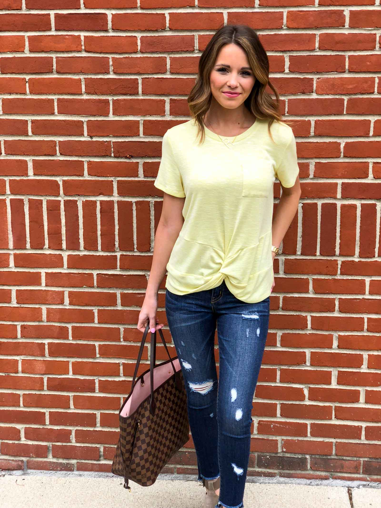 Yellow Twist Tee-3