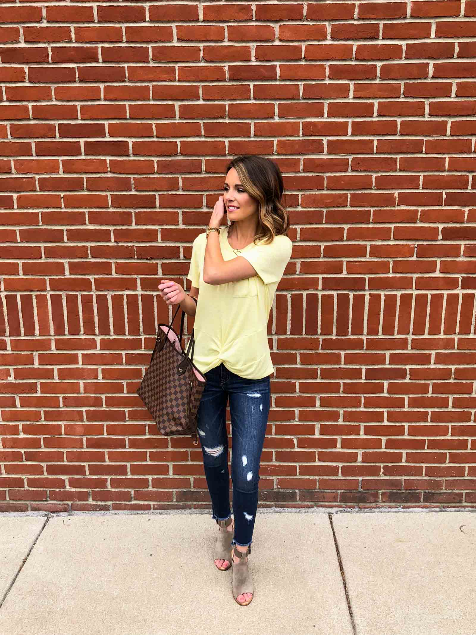 Yellow Twist Tee-4