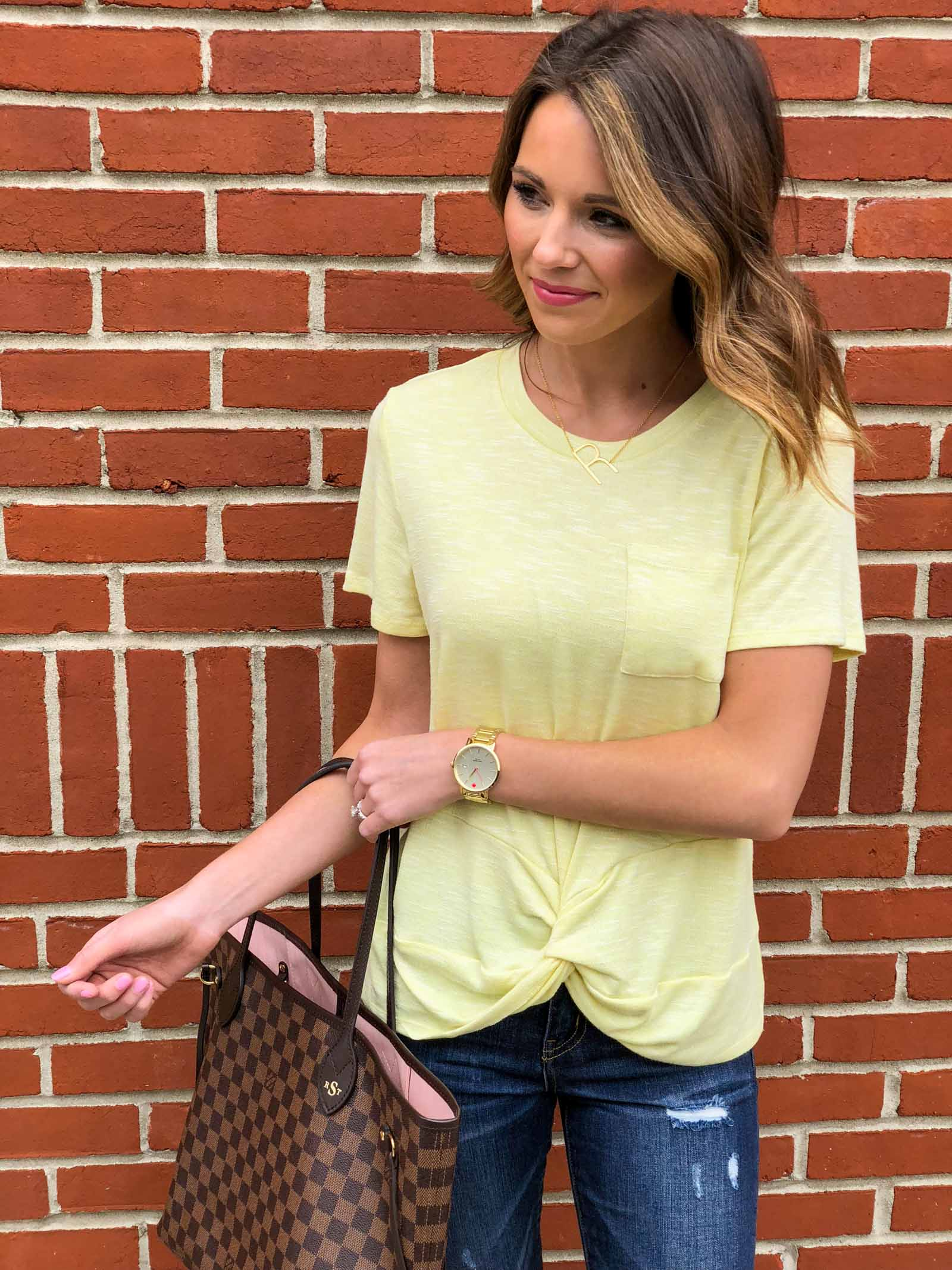 Yellow Twist Tee-5