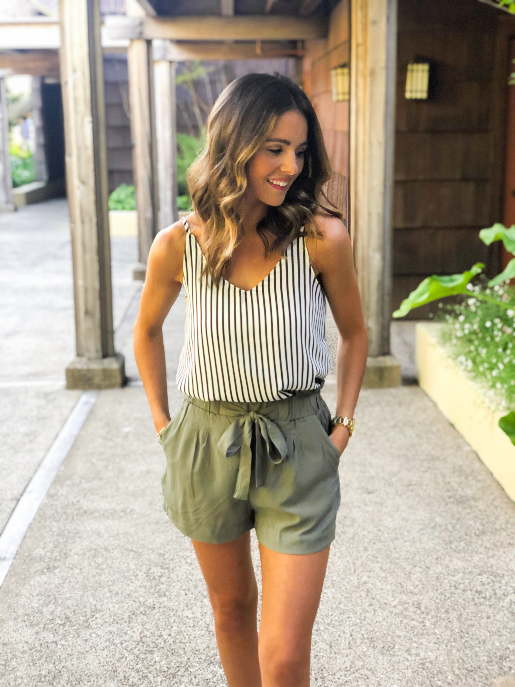 Olive Paperbag Shorts-11