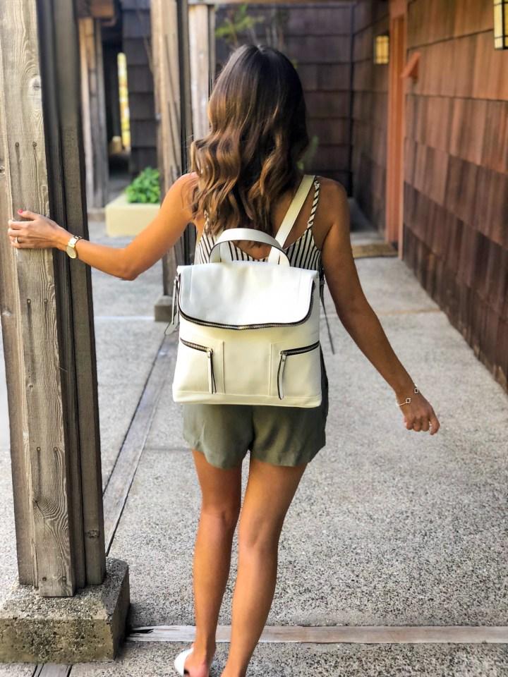 Olive Paperbag Shorts-50