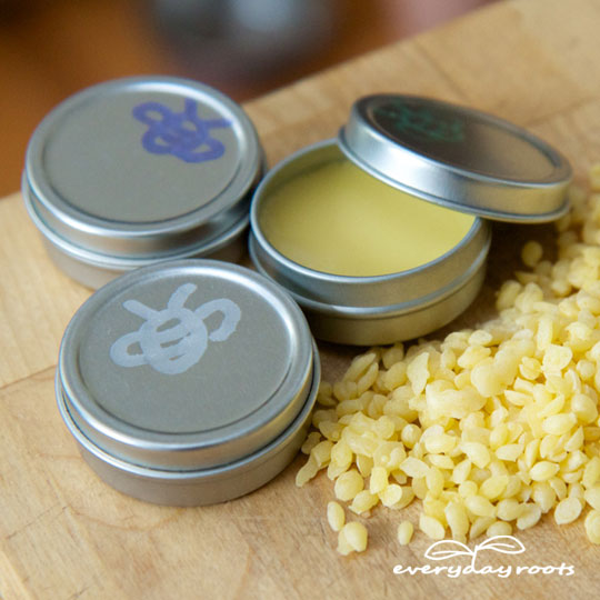 DIY Christmas Gifts Homemade Beeswax Coconut Oil & Honey Lip Balm