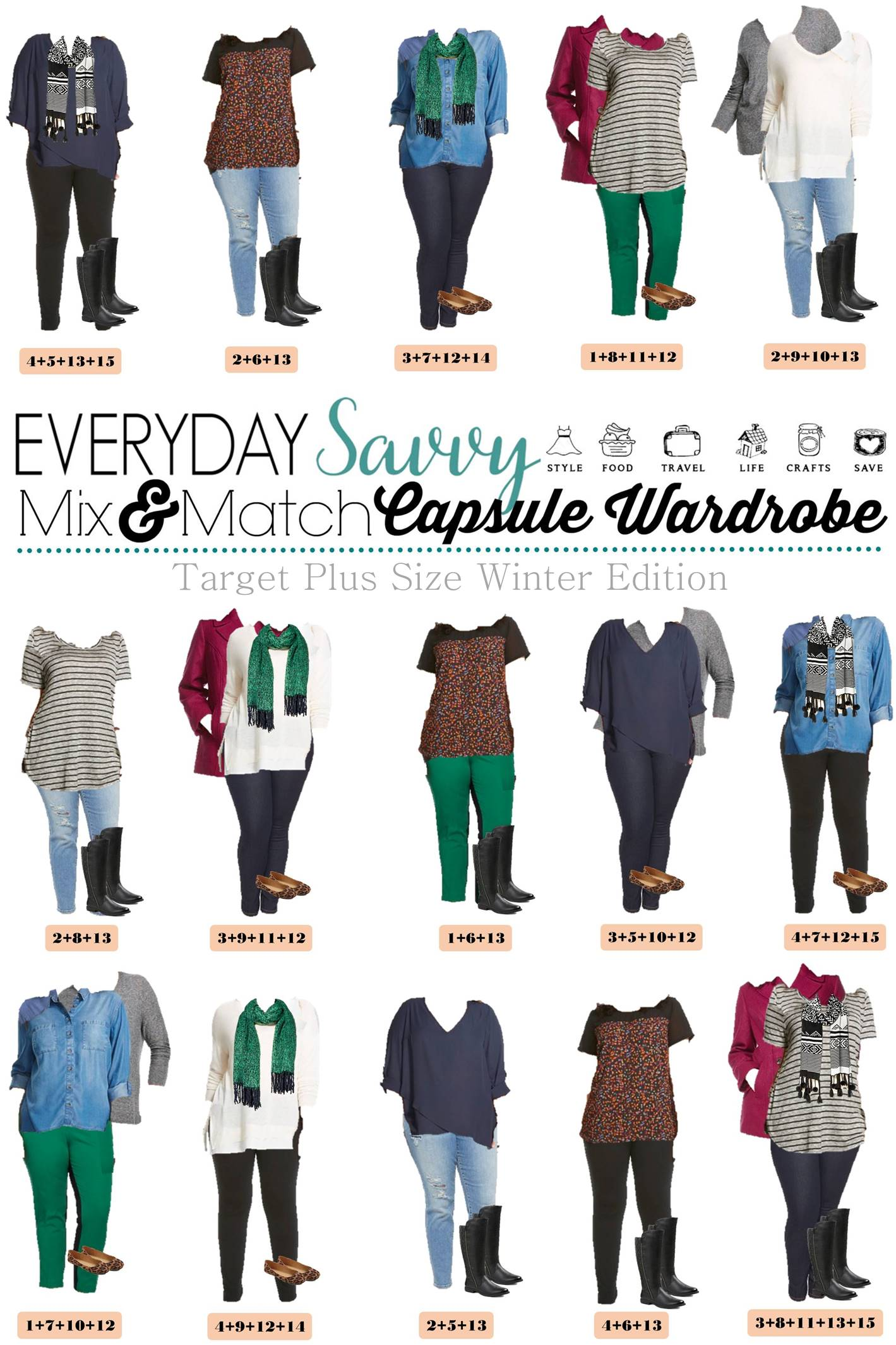 Winter Plus Size Capsule Wardrobe From Target