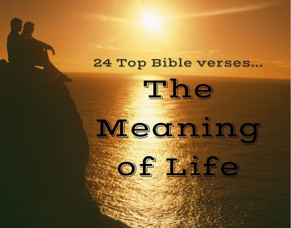 24 Top Bible Verses-Meaning of Life - Everyday Servant