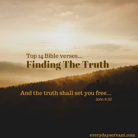 top 14 bible verses finding the truth everyday servant