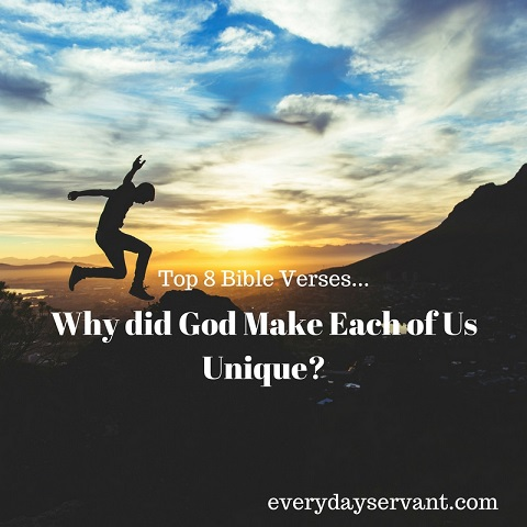 Top 8 Bible Verses-Why Did God Make Each of Us Unique - Everyday Servant