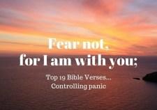 Top 19 Bible Verses-Controlling Panic