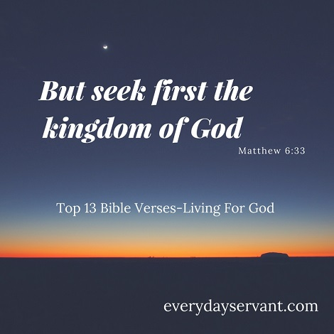 Top 13 Bible Verses-Living for God