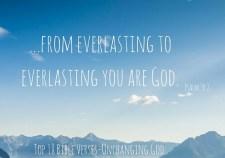 Top 18 Bible Verses-Unchanging God