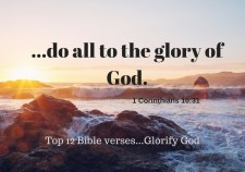 Top 12 Bible verses-Glorify God