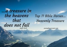 Top 11 Bible Verses-Heavenly Treasure