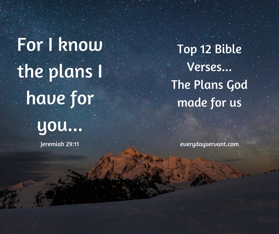 Top 12 Bible Verses-The Plans God Made for Us - Everyday Servant
