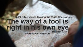 Top 15 Bible Verses-Focused On God - Everyday Servant