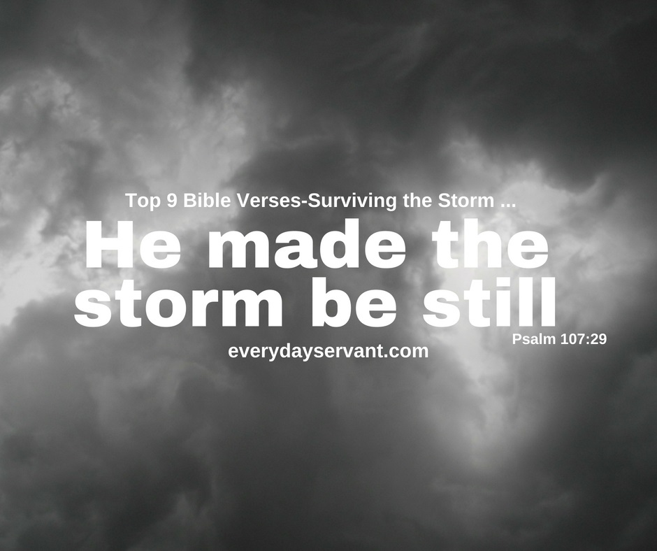 Top 9 Bible Verses-Surviving the Storm - Everyday Servant