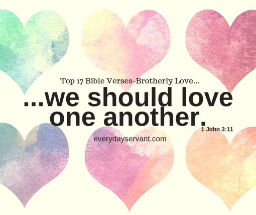 Top 17 Bible Verses-Brotherly Love - Everyday Servant