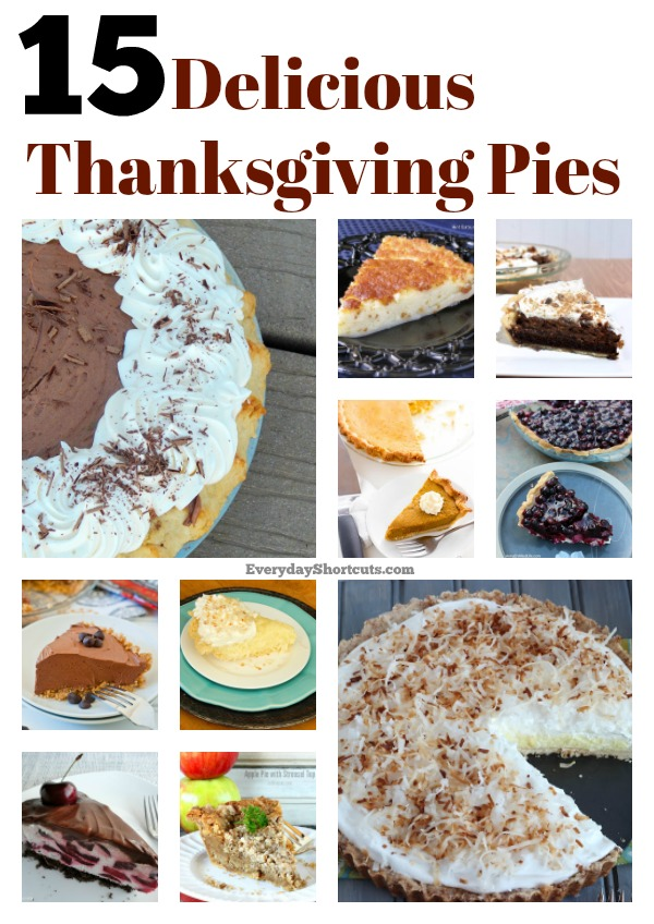 15 Delicious Thanksgiving Pies Everyday Shortcuts