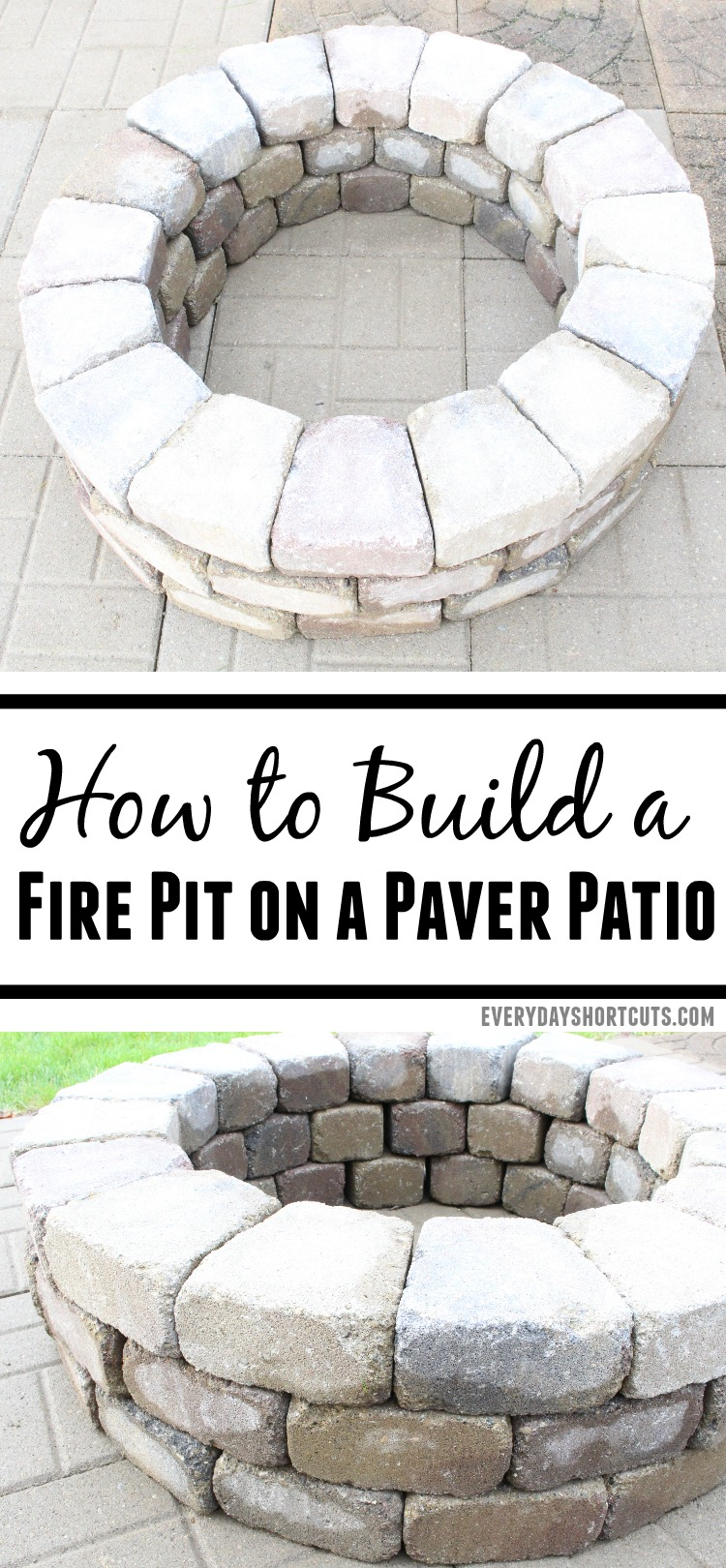 How to Build a Fire Pit On a Paver Patio - Everyday Shortcuts on Pavers Patio With Fire Pit id=39563