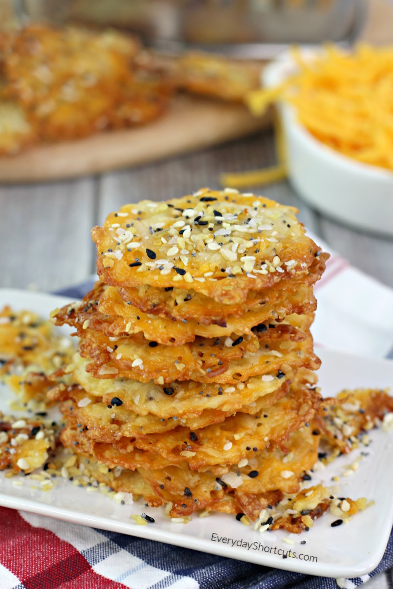 Keto Bagel Cheese Chips