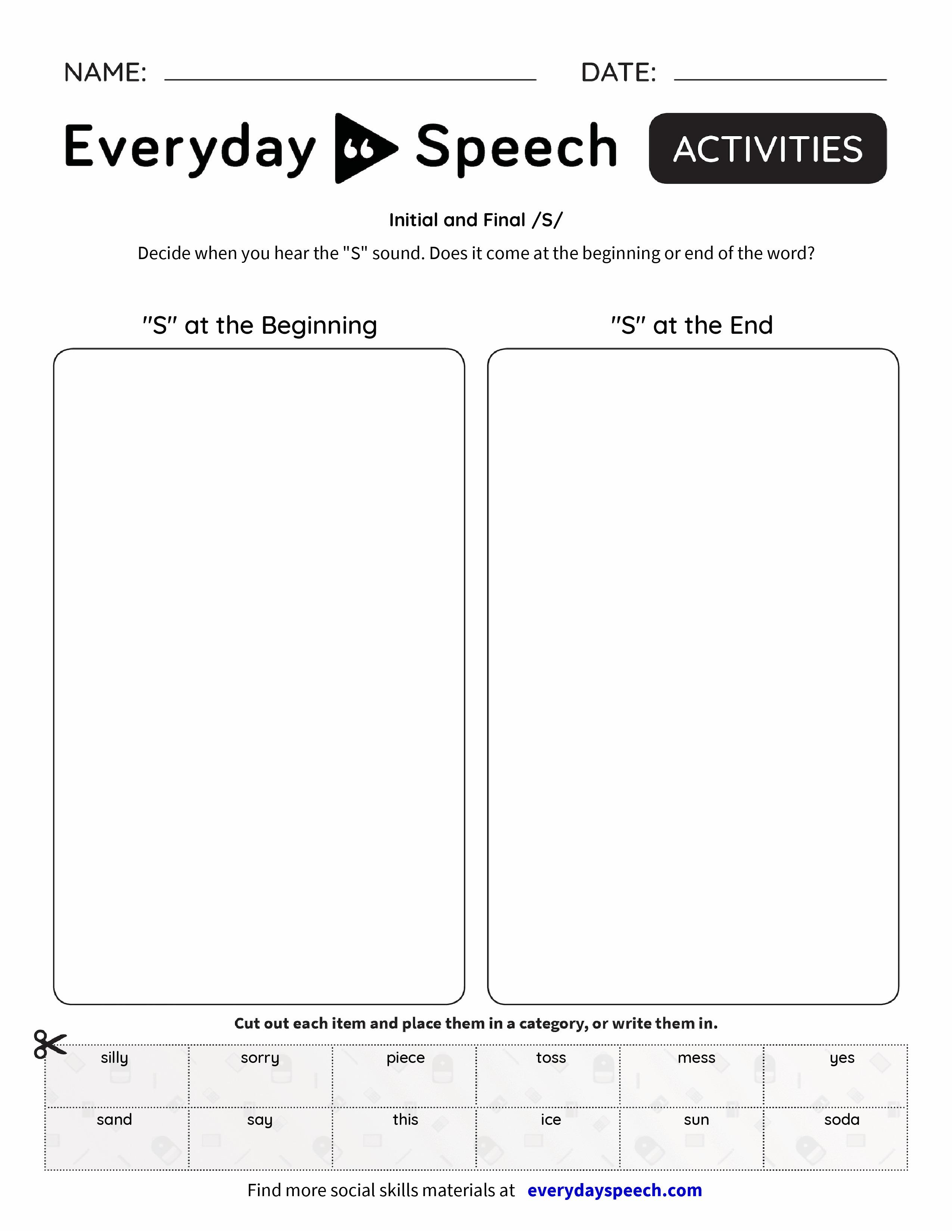 Iti L Nd F L S Everyd Y Speech Everyd Y Speech
