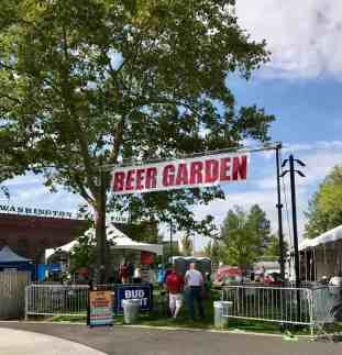 Image of one of three beer gardens