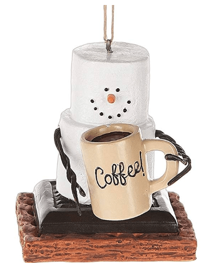 S'mores Coffee Lover Christmas Ornament