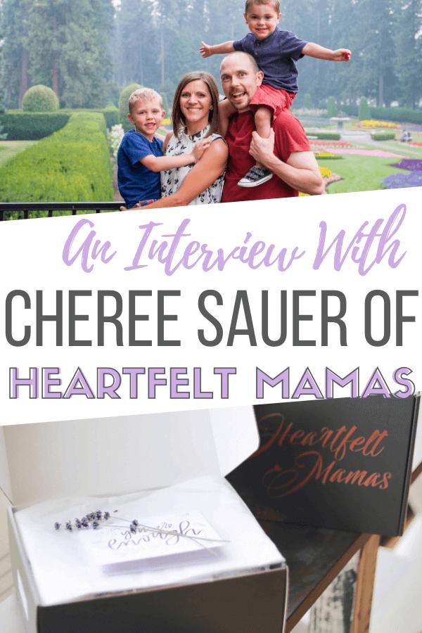 an interview with cheree sauer of heartfelt mamas