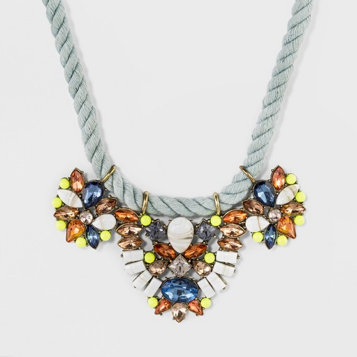 sugarfix baublebar mixed media statement necklace