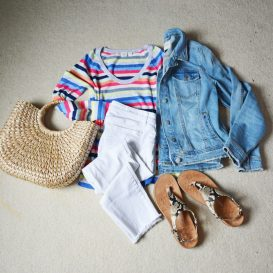 Gap Crazy Stripe Flatlay