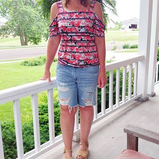 red white and blue stitch fix top