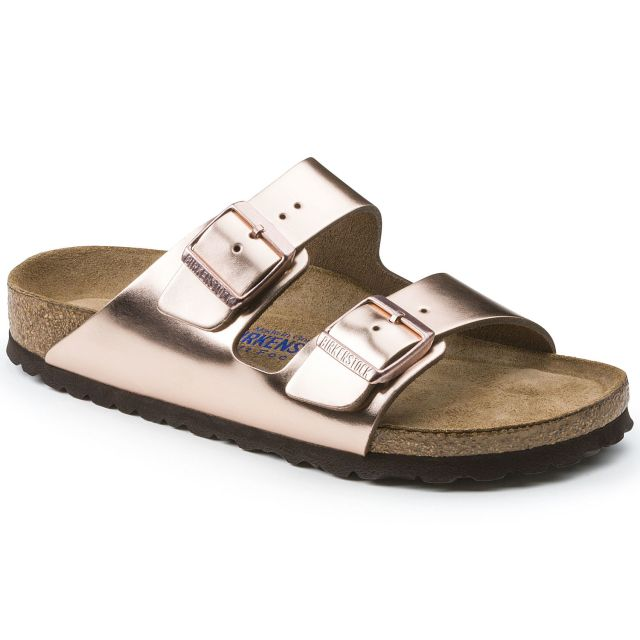 Copper Rose Gold Birkenstock Arizona Sandal